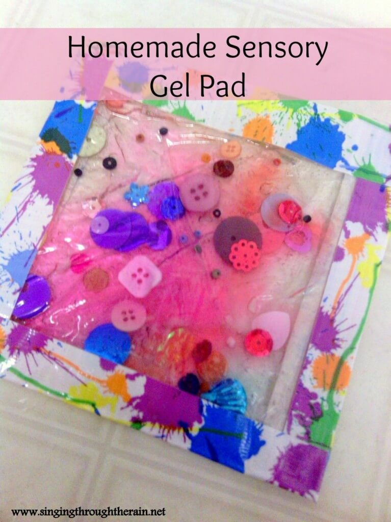 Toys For Autism Special Needs : Homemade sensory gel pad singing through the rain