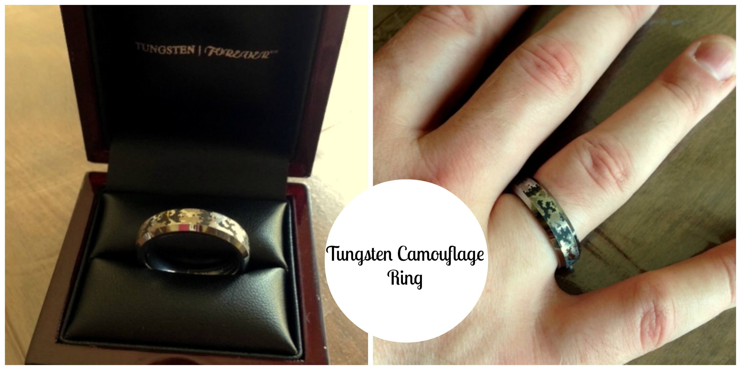 tungsten camouflage ring for military men singing through the rain - Military Wedding Rings