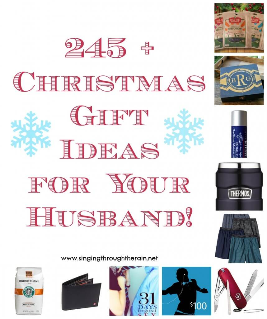 245 Christmas Gift Ideas For Your Husband Singing