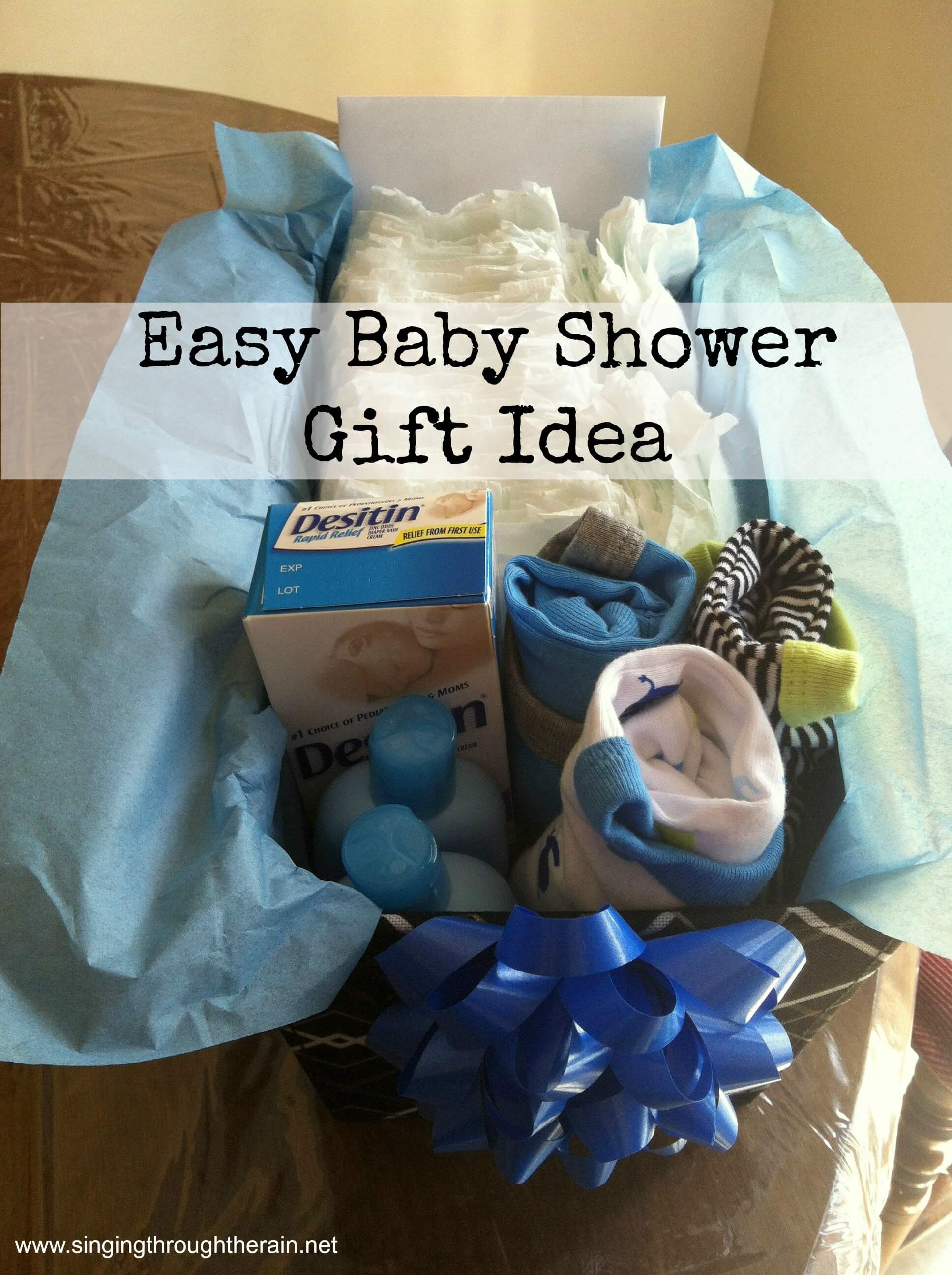 easy baby shower gift idea singing through the rain